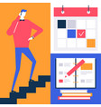 due date - flat design style colorful vector image