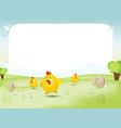 easter and spring landscape vector image