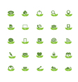Eco Universal Outline Icons For Web and Mobile vector image vector image