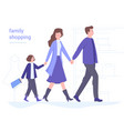 family in mall shopping together vector image vector image