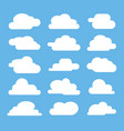 flat cloud on blue background vector image vector image
