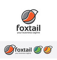 foxtail logo design vector image vector image