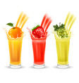 fruit juice set vector image vector image