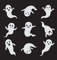 ghost halloween ghostly faces spooky monster vector image vector image
