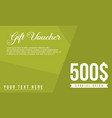 gift voucher design style collection vector image vector image