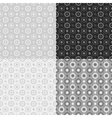 Grey seamless patterns vector image vector image