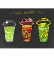 Hand drawn Bubble tea vector image vector image