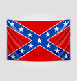 hanging flag of confederate confederate states of vector image vector image