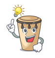 have an idea conga mascot cartoon style vector image vector image