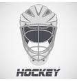 Hockey Helmet sketch vector image vector image