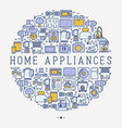 home appliances concept in circle vector image vector image