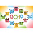 horoscope zodiac symbols 2019 vector image vector image