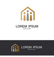 house of tie gold logo vector image vector image