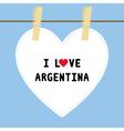 I lOVE ARGENTINA5 vector image
