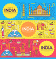 india brochure cards thin line set country vector image vector image