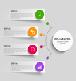 Info graphic with abstract design stickers vector image vector image