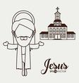 Jesus design vector image vector image