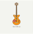 line flat color icon musical instruments - vector image