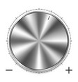 metal round knob vector image