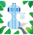 mineral water bottle background template vector image vector image