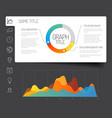 minimalist infographic dashboard template vector image