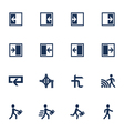Movement direction icons vector image vector image