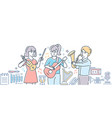 music school - colorful line design style vector image vector image