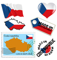 national colours of Czech Republic vector image vector image