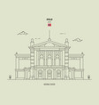 national theatre in oslo norway vector image