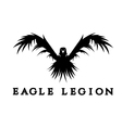 negative space concept of warrior heads in eagle vector image vector image