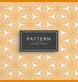 orange decorative flower line pattern background vector image vector image