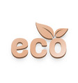 paper organic leaf a tree icon on a white vector image