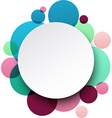 Paper white round speech bubbles vector image vector image