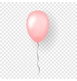 pink balloon 3d thread isolated white vector image