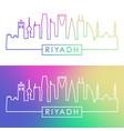 riyadh skyline colorful linear style editable vector image vector image