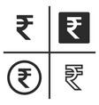 rupee currency symbol set vector image vector image