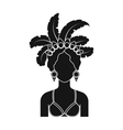Samba dancer icon in black style isolated on white vector image vector image