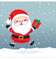 santa claus cartoon character for christmas cards vector image vector image