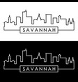 savannah skyline linear style editable file vector image vector image