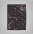 save date luxury card wedding celestial vector image