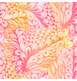 Seamless floral vintage pink pattern vector image vector image