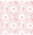 seamless flower lace pattern on pink background vector image vector image