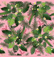 seamless pattern pink vector image vector image
