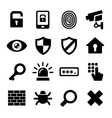 Security Icons Set vector image vector image