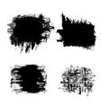 set black grunge banners vector image vector image