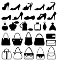 set flat woman accessories isolated on white vector image