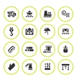 Set round icons of metallurgy vector image vector image
