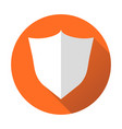 shield protection icon in flat style with shadow vector image vector image
