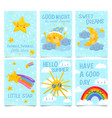 sky posters twinkle little star good night and vector image