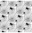 spider web silhouette spooky spiders vector image vector image
